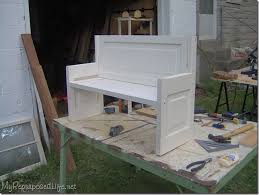 diy old door benches door into bench i ve been looking for something to do with an old door