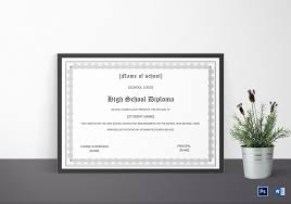 high school diploma name diploma completion certificate for high school design template in