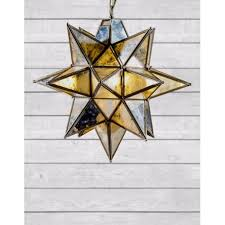 cambridge antique brass large star pendant chandelier with antique glass