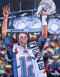 patriots artwork patriots super bowl tom brady original art painting dan byl
