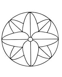 Easy Mandala Coloring Pages Printable With Easy Mandala Coloring