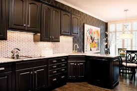 painting black brown kitchen cabinets