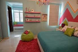 Elegant Teen Girls Chevron Bedroom Modern