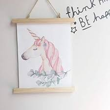 home office artwork. Iefoah Canvas Wall Art Unicorn Painting Modern Artwork For Girls Kids Living Room Bedroom Study Home Office