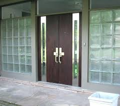 modern entry doors for all glass entry door black stained wooden single half glass modern