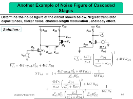 another example of noise figure of cascaded stages