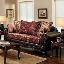 two fabric sofa furniture of traditional two tone chenille fabric and leather brown sofa fabric couch