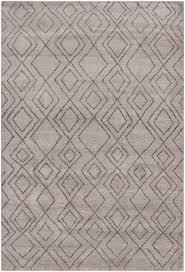 rugsville moroccan beni ourain double diamond wool dark gray rug 37008