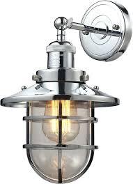 chrome bathroom sconces elk 1 seaport nautical polished chrome sconce lighting elk with nautical wall light