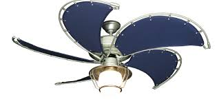 Raindance Brushed Nickel Ceiling Fan W/Blue Fabric Blades 151 Light  Dan\u0027s City