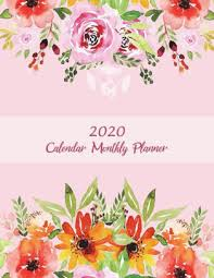 2020 Calendar Monthly Planner Pink Color Book Monthly Calendar Book 2020 Weekly Monthly Yearly Calendar Journal Large 8 5
