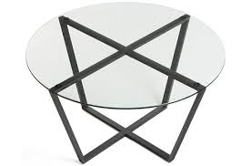 mango steam metro black glass coffee table