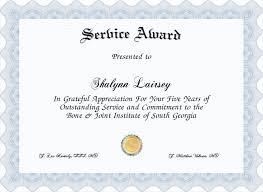 customer service award template service award certificate service award template templatesmberproco