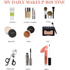 daily makeup routine by enh410 via polyvore