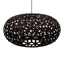 pendant light shade bamboo plywood wood lighting snowflake