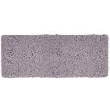 grey 24 in x 60 in memory foam bath mat