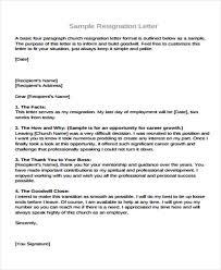 Letter Of Resignation Sample 14 Basic Resignation Letters Free Sample Example Format