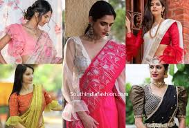 Saree Blouse Sleeve Designs 2018 Blouse Designs For Silk Sarees Fashion Trends Page 3