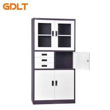 three drawers glass steel doors put books put safe steel cabinet