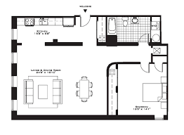 One Bedroom Apartment Open Floor Plans Com And For Apartments Best ...