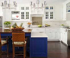 Cabinets rendered in navy, sapphire, and cobalt blues work in both  traditional and modern kitchen designs, as well as in-the-middle  transitional aesthetics.
