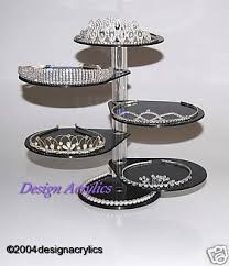 Rotating Display Stand Uk Black 100 Tier Tiara Jewellery Rotating Acrylic Display 12