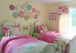 Bedroom:Cute Pink Bedroom Design Ideas For Girls Twin Toddler Bedroom With  Beige Wall Paint