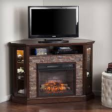 boston loft furnishings 52 25 in w espresso faux durango stone mdf infrared quartz electric