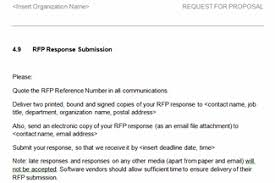 Response To Rfp Sample Request For Proposal Rfp Template