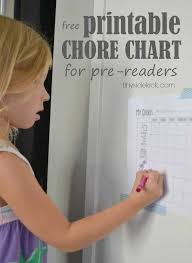 Task Charts For Preschoolers Free Printable Chore Chart For Preschoolers
