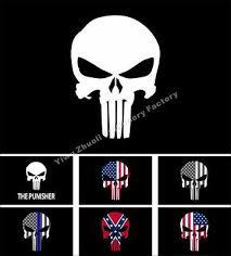 punisher skull logo 3 5 ft flag banner