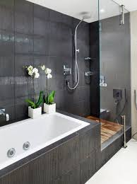 bathroom ideas. Zen Bathroom With Dark Wall Tiles Ideas