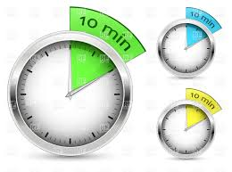 a 10 minute timer set of 10 minutes timers vector illustration of sport and leisure