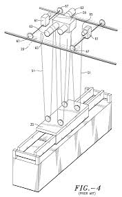 Patent us6250486 integrated balanced wire rope reeving system
