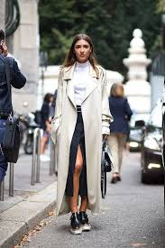 wearing a gray or white trench coat makes a great statement creating an endless glam to the many of your outfits a turtleneck top to go with a maxi skirt