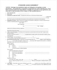 8+ Sample Lease Agreements | Sample Templates