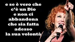 Che sia benedetta Fiorella Mannoia Testo - YouTube