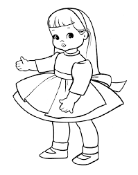 Small Picture Baby Doll Coloring Pages