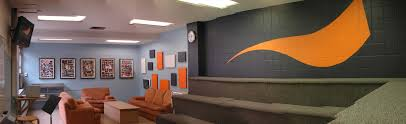 church office decorating ideas. Interior, Popular Church Youth Room Design Ideas With Charming Orange Crafts Also Sofa And Grey Wall Design: Impassioned Decorati. Office Decorating H