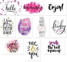 20 Typographie Postkarten Set 10 Motive Mit Jeweils 2 Karten