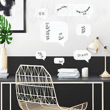 dry erase sch bubble wall decals