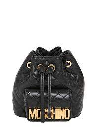Moschino Mini Quilted Backpack in Black | Lyst & Gallery Adamdwight.com