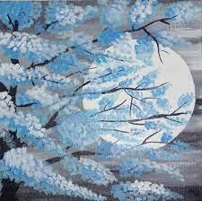 modern canvas moon wall art painting