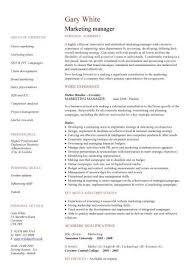 Marketing Resume Template Jmckell Com