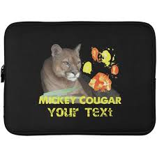 Mickey Cougar Paw Print Laptop Sleeve 15 Inch