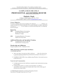 example resume objective for accounting additional education and cover letter example resume objective for accounting additional education and specialized training teamwork communicationobjective for resume