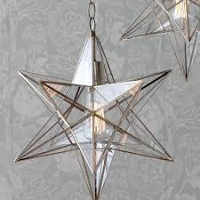 Lighting Fascinating Moravian Star Chandelier For Unique