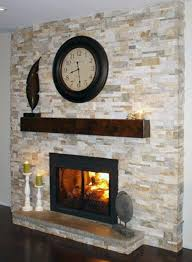 natural white stone fireplace with dark wood mantle photos bing images