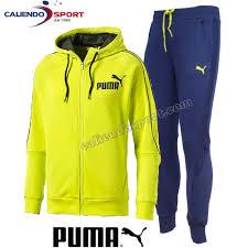 puma tracksuit mens. tracksuit men puma 838604 cotton brushed style best suit sweat sport leisure lime/blue puma tracksuit mens