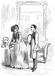 Couple In Morning Dress Victorian Style Fashion Stock Illustration